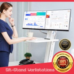 Sit-Stand Workstations 19-27 inch dual monitor